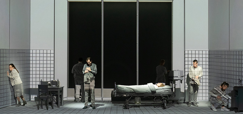 Picture of the world premiere of KOMA by Georg Friedrich Haas in Klagenfurt