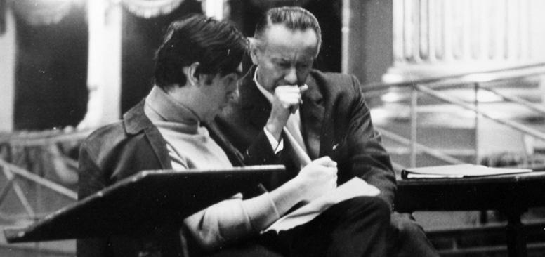 Luciano Chailly con Claudio Abbado