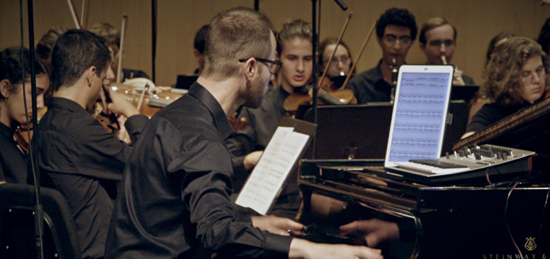 Picture of the world premiere of Yair Klartag's Concertro Grosso