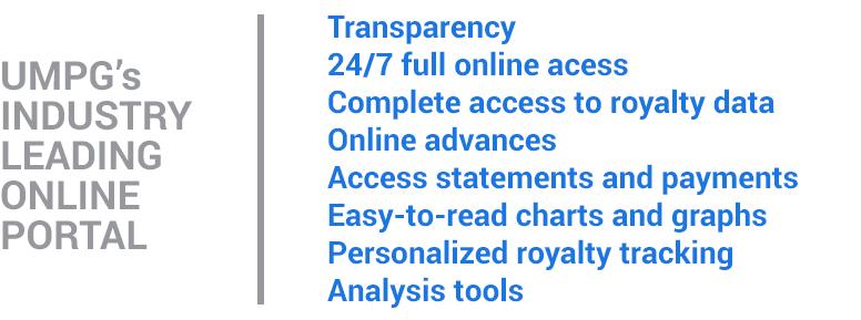 UMPG'S Industry leading online portal